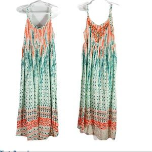 lucky brand girl high low embroidered bright dress